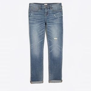J. Crew Factory Slim Boyfriend Jeans Distressed 24